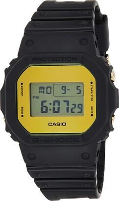 Casio Mens Digital Quartz Watch with Resin Strap DW-5600BBMB-1ER
