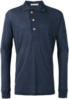 Pierre Balmain long sleeve polo top - men - Viscose/Wool - 52