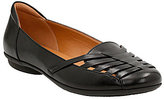 Clarks Gracelin Gemma Leather Cutout Slip-On Flats