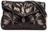Saint Laurent Medium Monogramme Puffer Loulou Shoulder Bag in Black | FWRD