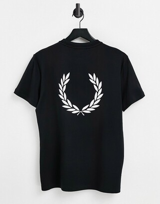 Fred Perry back logo t-shirt in black