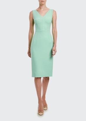 Dolce & Gabbana V-Neck Sleeveless Sheath Dress