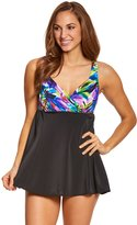 Longitude Mardi Gras Draped Swimdress 8150538