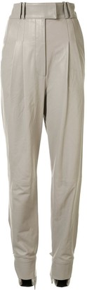 Proenza Schouler Ankle-Tie Leather Trousers