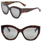 Balenciaga 56MM Mirrored Cat Eye Sunglasses