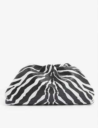 Bottega Veneta The Pouch medium zebra-printed leather clutch