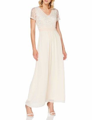 Yumi Women's Lace Top V Neck Maxi Dress Cocktail