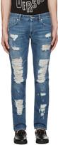 Versus Blue Destroyed Jeans