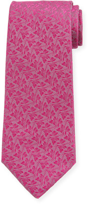Charvet Men's Large Flowers Silk Tie