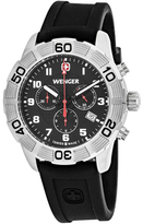 Wenger Roadster 01.0853.101 Men's Black Silicone Chronograph Watch