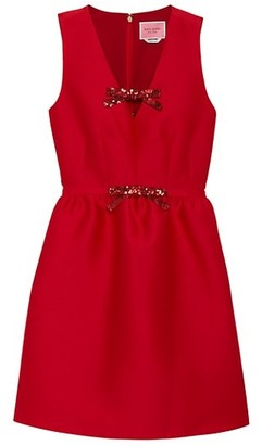 Kate Spade Sequin Bow Mikado Dress