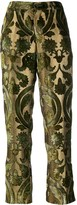 F.R.S For Restless Sleepers velvet-flocked jacquard trousers