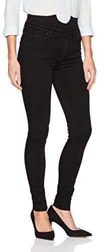Black Orchid Women's Karlie Button Front High Rise Skinny