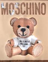 Moschino Teddy bear silk square runway