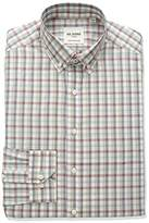Ben Sherman Men's Skinny Fit Check Stripe Button Down Collar Dress Shirt