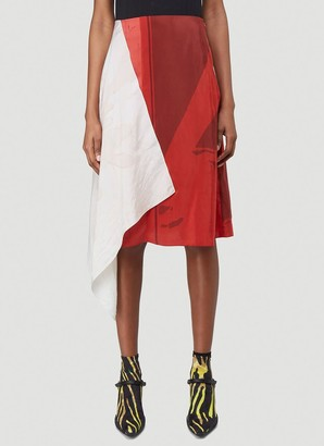 Marine Serre Contrasting Panelled Draped Skirt