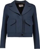 Sandro Valeria cropped cotton-blend jacket