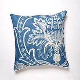Broderie Aqua Linen Pillow