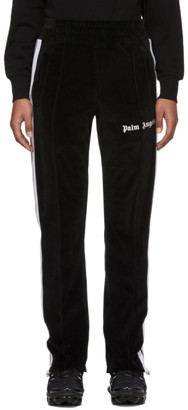 Palm Angels Black Chenille Track Pants