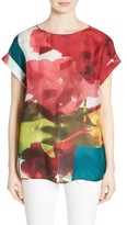 Lafayette 148 New York Women's Lori Print Silk Blouse
