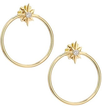 Roberto Coin Disney x Princess Cinderella Diamond Stud & 18K Yellow Gold Hoop Jacket Earring Set