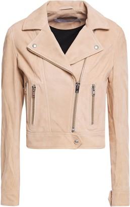 IRO Dembey Nubuck Leather Biker Jacket