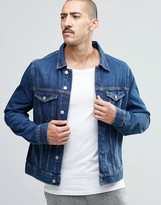 Weekday Single Slim Denim Jacket Original Blue