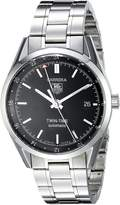 Tag Heuer Men's WV2115.BA0787 Carerra Calibre 7 Twin Time Automatic Dial Steel Bracelet Watch