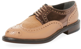 Robert Clergerie Roelp Leather & Calf Hair Oxford