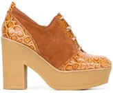 See by Chloe embossed detail lace-up shoes - women - Leather/Suede/rubber - 39