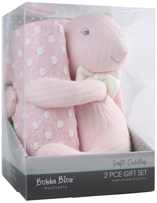 Bubba Blue Soft Cuddles 2 Piece Baby Gift Set - Pink