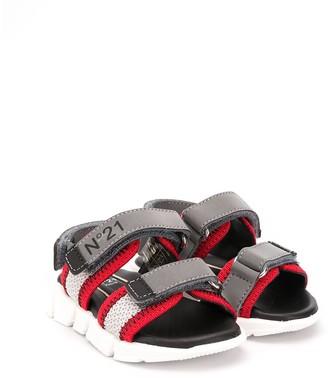 No21 Kids Touch-Strap Logo Sandals