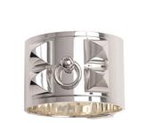 Sterling Silver Wide Collier de Chien Bracelet