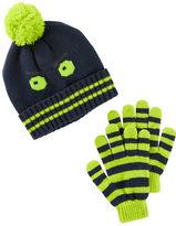 Osh Kosh Glow-In-The-Dark Hat & Gloves Set