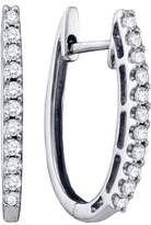 DazzlingRock Collection 1/4 Total Carat Weight ROUND DIAMOND LADIES FASHION HOOPS EARRINGS