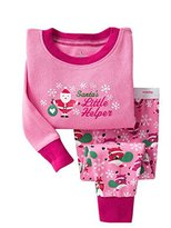 Albee Yang Christmas Boys Girls Pajamas Toddler Sleepwear Clothes for Kids 2-8 Year (6-7 Year, )