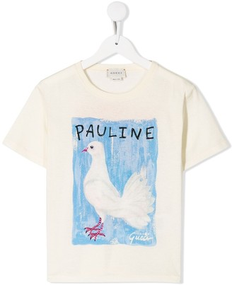 Gucci Kids Paul and Rudy print T-shirt