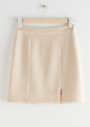 And other stories Wool Blend Mini Skirt