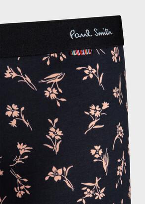 Paul Smith Men's Black 'Graphic Floral' Print Boxer Briefs