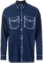 Miharayasuhiro printed chest pocket shirt