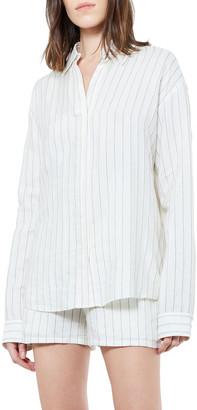 RtA Brady Pinstripe Oversized Shirt