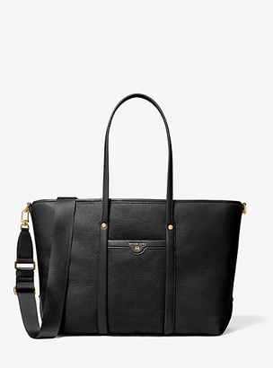 MICHAEL Michael Kors MK Beck Large Pebbled Leather Tote Bag - Black - Michael Kors