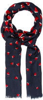 Tory Burch Valentine's Day Printed Scarf w/ Tags