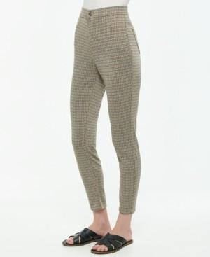 Vanilla Star Juniors' Pull-On Plaid High Rise Skinny Pants
