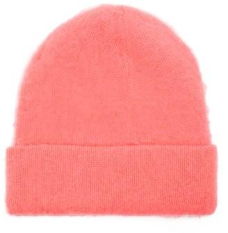 Acne Studios Peele Wool-blend Beanie Hat - Womens - Pink