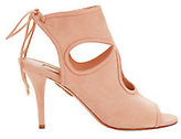 Aquazzura Sexy Thing Cutout Pink Suede Sandals