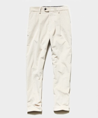 Todd Snyder Italian Pleated Cord Trouser in Stone