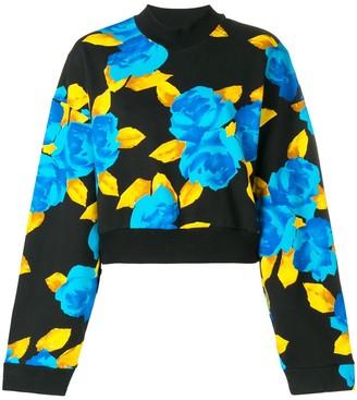 MSGM Cropped Jersey Sweater
