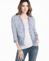 White House Black Market Fringe Sweater Jacket