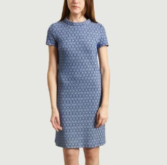 Antoine et Lili - Blue Short Sleeve Aloe Dress - 2 | blue | cotton and polyester - Blue/Blue